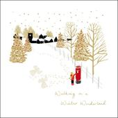 Walking In A Winter Wonderland Christmas Greeting Card