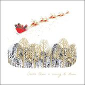 Santa Claus Is Coming To Town Christmas Greeting Card
