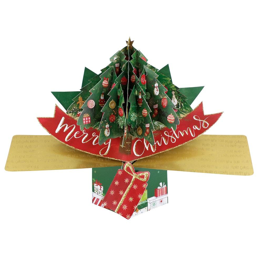 Merry Christmas Tree Pop-Up Greeting Card