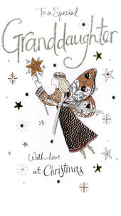Granddaughter Embellished Christmas Card