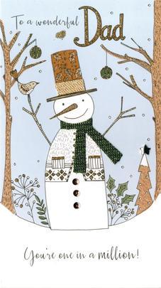 Dad Embellished Christmas Card