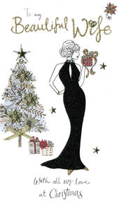Wife Embellished Christmas Card