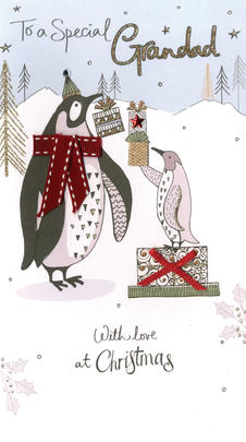 Grandad Embellished Christmas Card