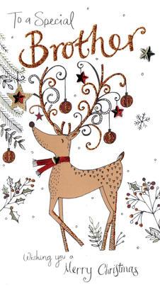Brother Embellished Christmas Card