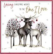 Boxed One I Love Special Luxury Handmade Christmas Card
