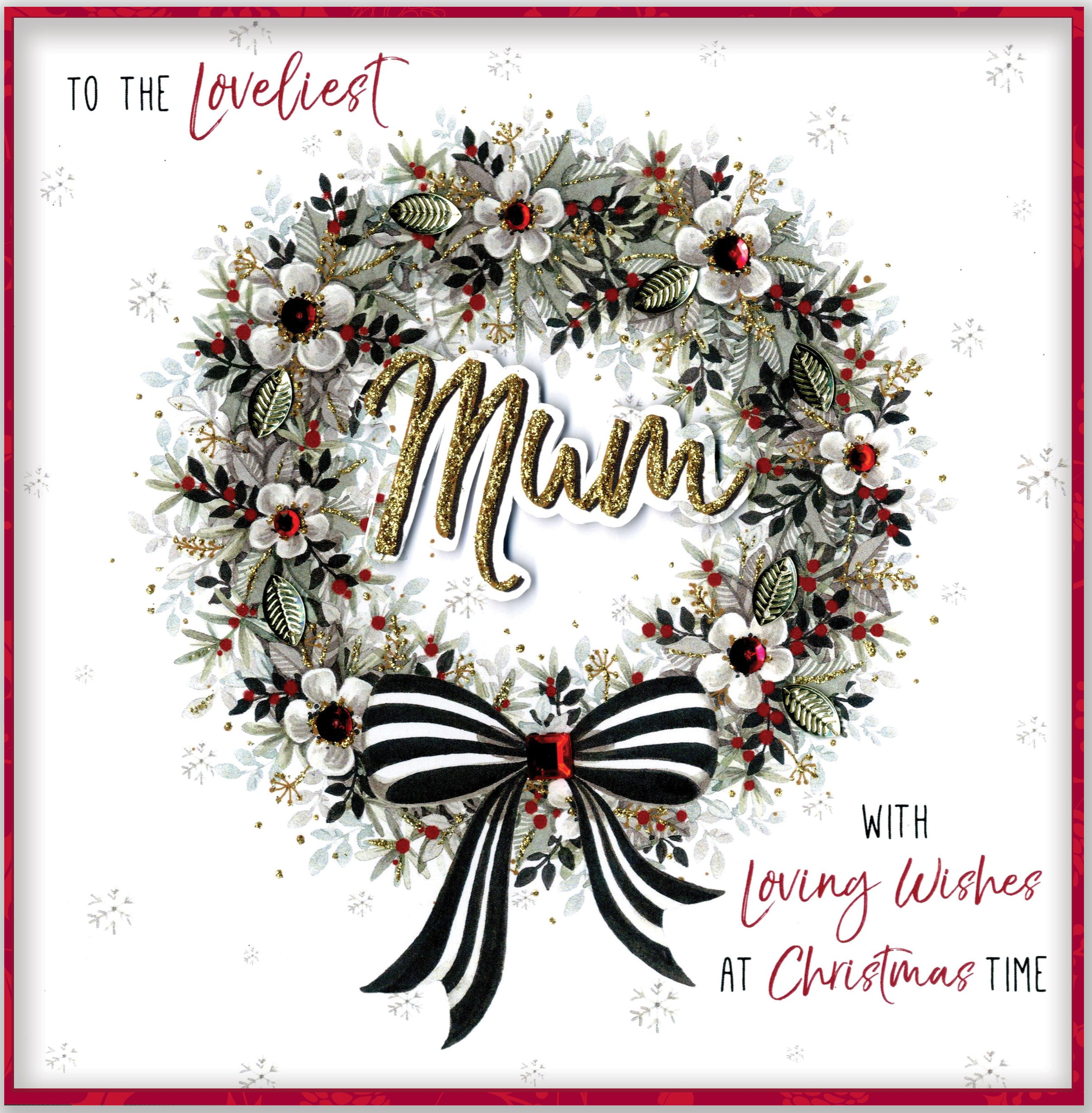 Handmade Christmas Card Images.Boxed Loveliest Mum Special Luxury Handmade Christmas Card