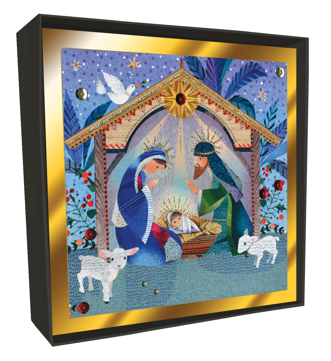 Box of 6 Nativity Scene Luxury Hand-Finished Christmas Cards | Cards