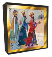 Box of 6 Three Kings Luxury Hand-Finished Christmas Cards