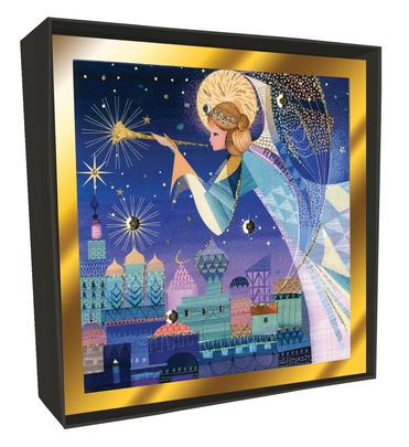 Box of 6 Angel Over Bethlehem Luxury Hand-Finished Christmas Cards