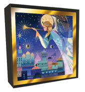 Box of 6 Angel Over Bethlehem Luxury Hand-Finished Christmas Cards