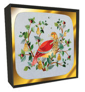 Box of 6 Partridge In A Pear Tree Luxury Hand-Finished Christmas Cards