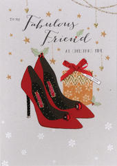 Fabulous Friend Embellished Christmas Card
