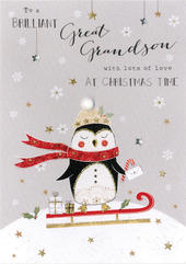 Great-Grandson Embellished Christmas Card