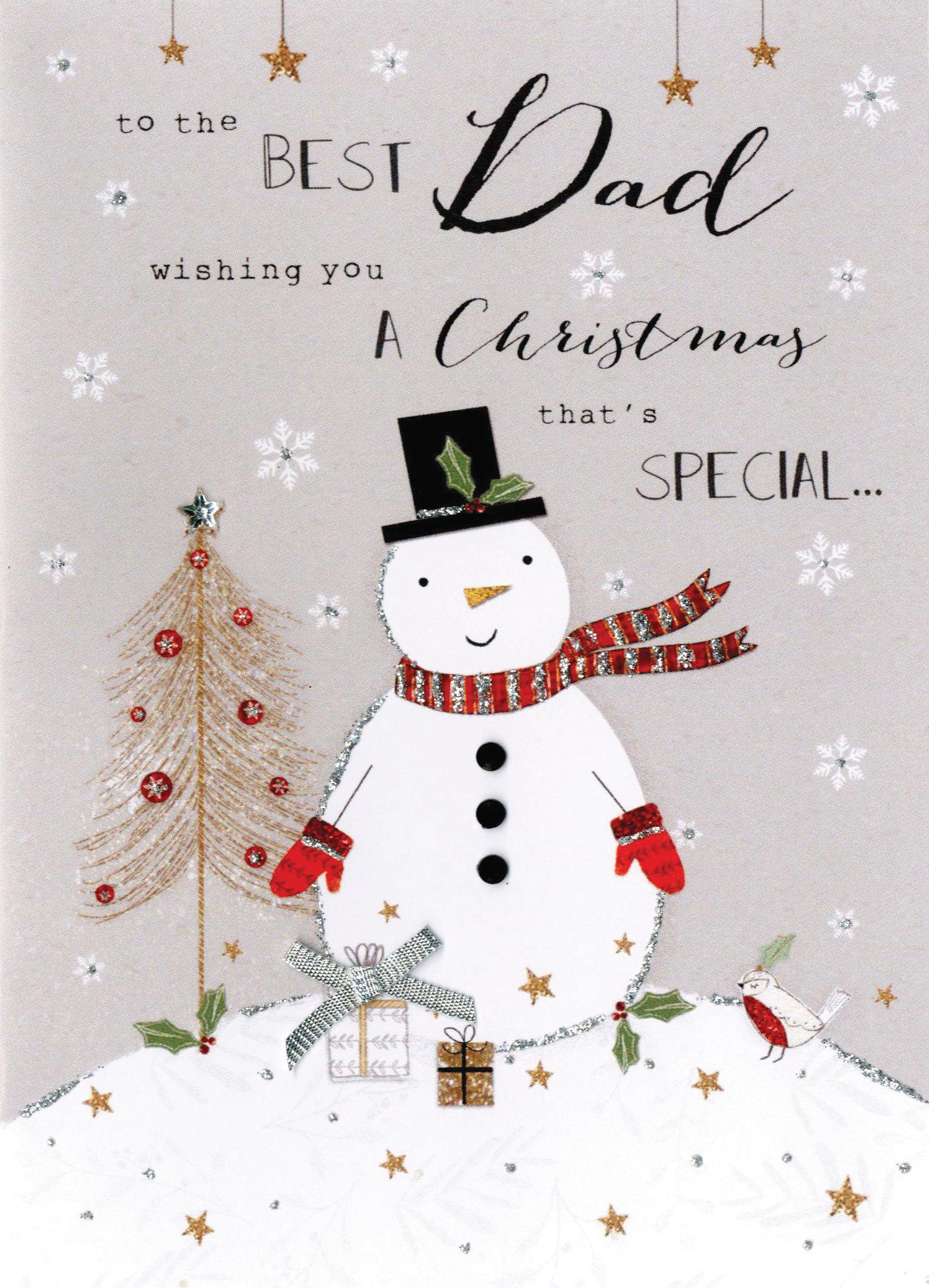 Best Christmas Cards.Best Dad Embellished Christmas Card