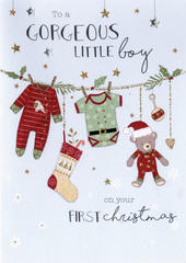Baby Boy 1st Christmas  Embellished Card