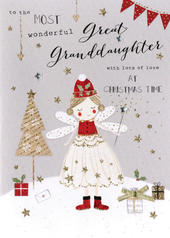Great-Granddaughter Embellished Christmas Card