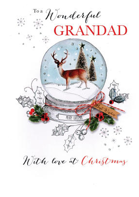 Wonderful Grandad Embellished Christmas Card