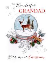 Wonderful Grandad Embellished Christmas Card