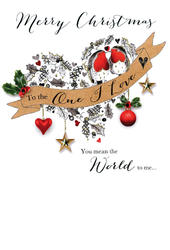 One I Love Embellished Christmas Card