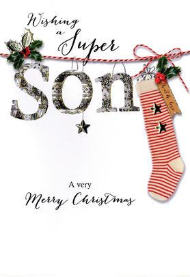 Super Son Embellished Christmas Card