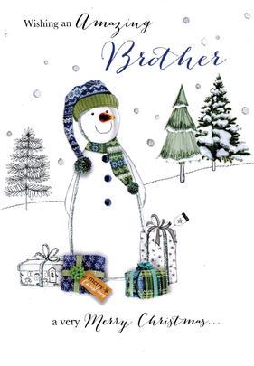 Amazing Brother Embellished Christmas Card