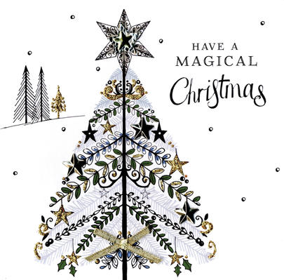 Individual Embellished Magical Christmas Card