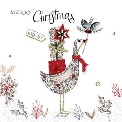 Individual Embellished Merry Christmas Card