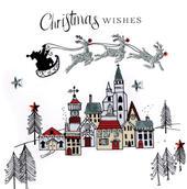Individual Embellished Christmas Wishes Card