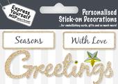 Gold Season's Greetings DIY Greeting Card Toppers