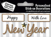 Gold New Year DIY Greeting Card Toppers