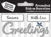Silver Season's Greetings DIY Greeting Card Toppers