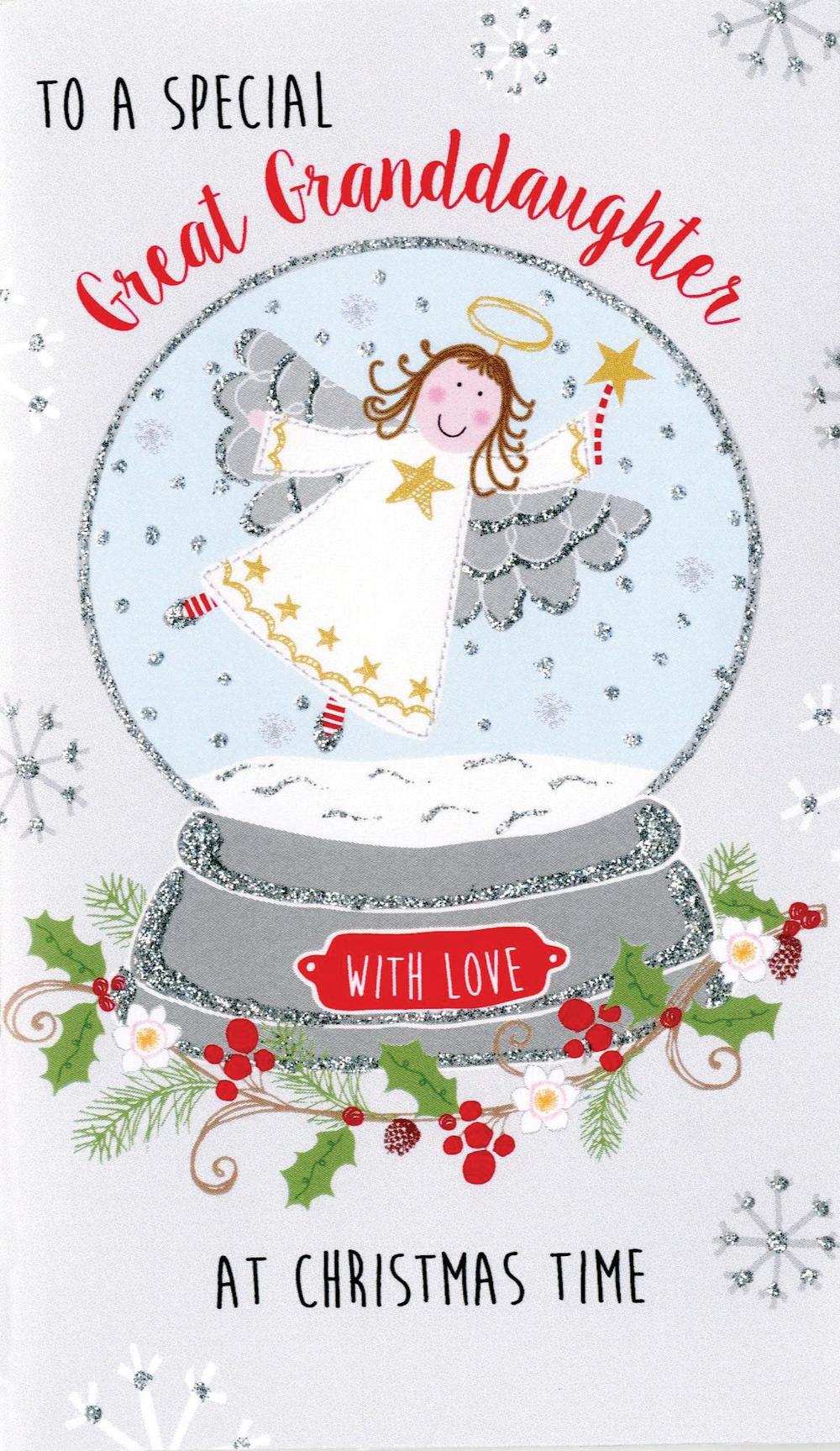 Great-Granddaughter Moneyholder Christmas Gift Card