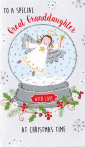 Great-Granddaughter Moneyholder Christmas Gift Card