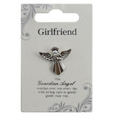 Girlfriend Silver Coloured Angel Pin With Gem Stone