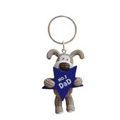 Mini Boofle No.1 Dad Keyring Gift