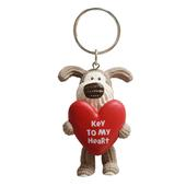 Mini Boofle Key To My Heart Keyring Gift