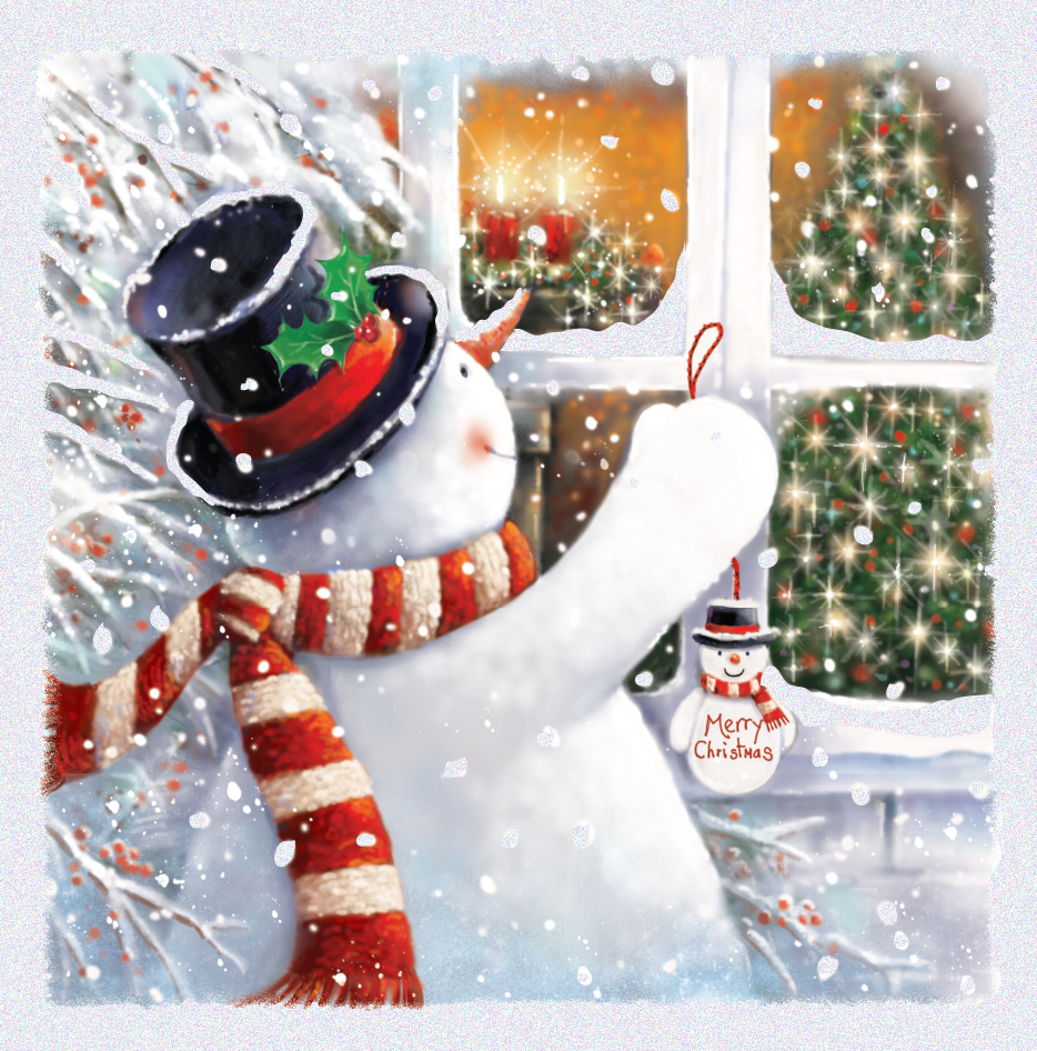 Pack of 5 Snowman Traditional Christmas Cards | Cards