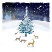 Pack of 5 Deer Traditional Christmas Cards