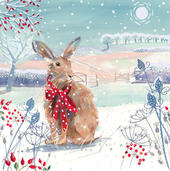 Pack of 6 Winter Hare Charity Christmas Cards