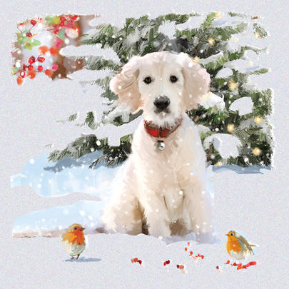 Pack of 6 Snow Puppy Charity Christmas Cards