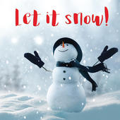 3D Holographic Let It Snow Christmas Greeting Card