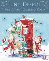 Special Delivery Advent Calendar Christmas Card