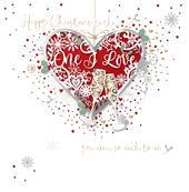One I Love Christmas Embellished Greeting Card