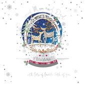 Mum & Dad Embellished Christmas Greeting Card