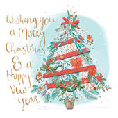 Merry Christmas  Embellished Greeting Card