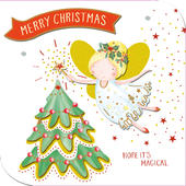 Magical Merry Christmas Embellished Christmas Card