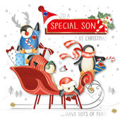 Special Son Christmas Embellished Christmas Card