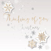 Thinking Of You At Christmas Embellished Christmas Card