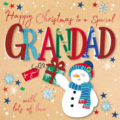 Special Grandad Christmas Embellished Christmas Card