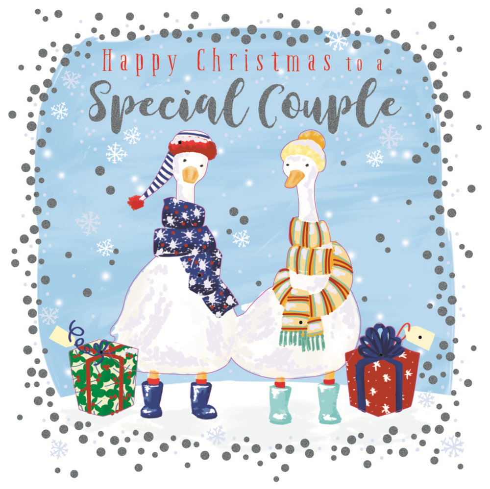To A Special Couple Embellished Christmas Card